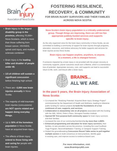 Brain Injury NS information sheet